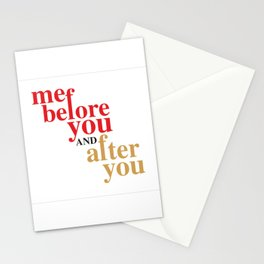 Me Before And After You Stationery Cards
