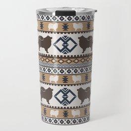 Boho dogs | Finnish lapphund/Suomenlapinkoira tan Travel Mug