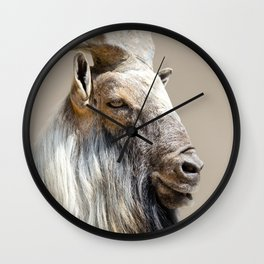 Proud Markhor Wall Clock