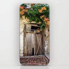 Abandoned building, Crete, Greece iPhone Skin