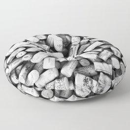 Something Nostalgic II Twist-off Wine Corks in Black And White #decor #society6 #buyart Floor Pillow
