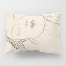 Gustav Klimt - Half-figure of a Young Woman Pillow Sham