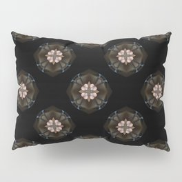 Beige Cross Flower Pattern Pillow Sham