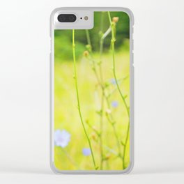 Cornflowers Clear iPhone Case