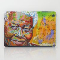 mandela iPad Cases featuring nelson mandela by yossikotler