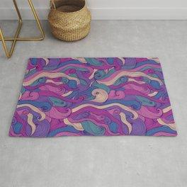 Purple metamorphoses Rug