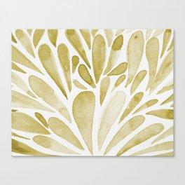 Watercolor artistic drops - yellow Canvas Print