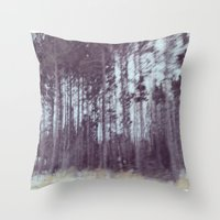 forrest Throw Pillows featuring Forrest by Anthony Londer