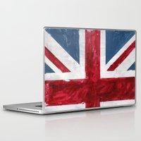 union jack Laptop & iPad Skins featuring Union Jack by Renato Verzaro