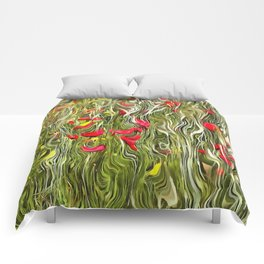 Poisoned Poppies Comforters