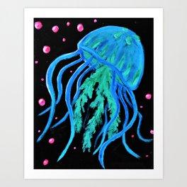 Neon Jellyfish Art Print