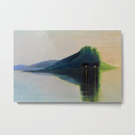 Serenity, Peace, & Quiet of the Early Morning Island landscape by Mikalojus Konstantinas Ciurlionis Metal Print