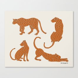 Leopard Block Party Canvas Print