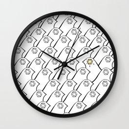 Glamour Bird Black White Wall Clock