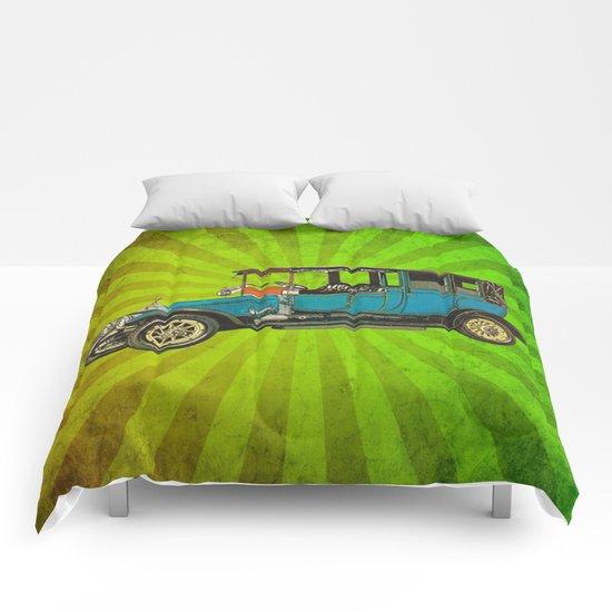 Vintage Car 02 Comforters