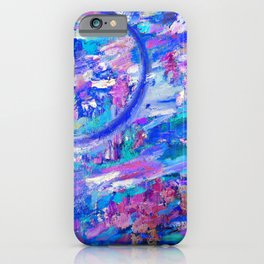 Paradise in Blue Violet iPhone Case