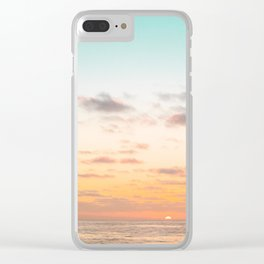 California Sunset Season Clear iPhone Case
