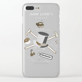 Anne Lister T-Shirt Diaries Hat Cane Thermometer Starter Kit Clear iPhone Case