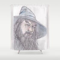 gandalf Shower Curtains featuring Gandalf by jamestomgray