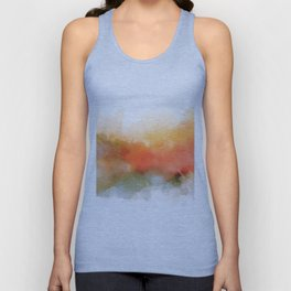 Soft Marigold Pastel Abstract Unisex Tank Top