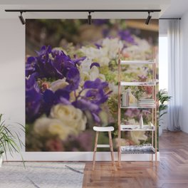 Bouquet of flowers, violets Wall Mural