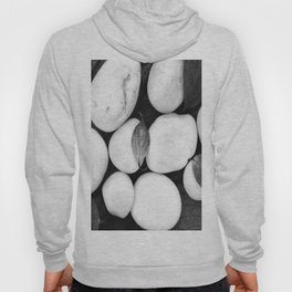 Zen White Stones On A Black Background #decor #society6 #buyart Hoody