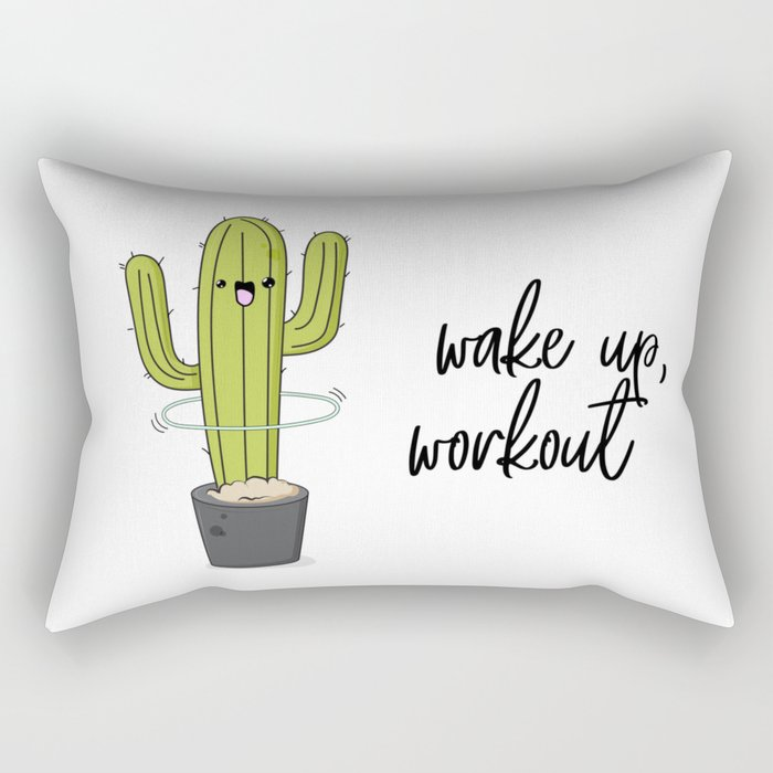 Cactus workout Rectangular Pillow
