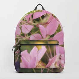 Pink Abstract Unique Flowers Backpack