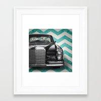 mercedes Framed Art Prints featuring Chevron Mercedes by Habit {F}