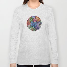 Rainbow Mandala collage Long Sleeve T-shirt