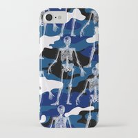 skeleton iPhone & iPod Cases featuring SKELETON by DIVIDUS