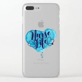 Nurse Life Clear iPhone Case