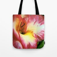 glee Tote Bags featuring GLEE by FOXART  - JAY PATRICK FOX