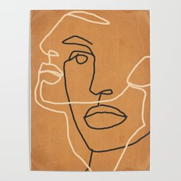 Abstract Face 6 Poster