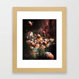 Funny Space Pasta Cat Framed Art Print
