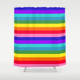 Stripes of Rainbow Colors Shower Curtain