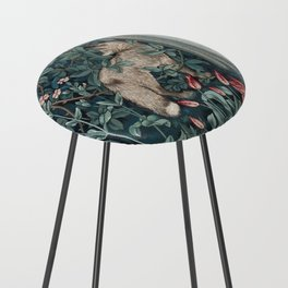William Morris Forest Fox Tapestry Counter Stool