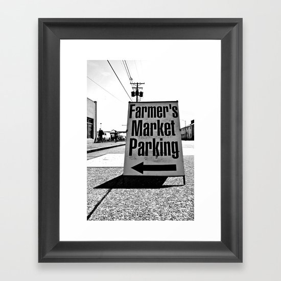 Market Parking Here Framed Art Print