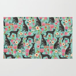Italian Greyhound pet friendly pet portraits dog art custom dog breeds floral dog pattern Rug
