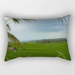 Ricefields near Ubud Rectangular Pillow