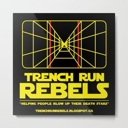 Trench Run Rebels Metal Print