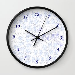 Blue circle on white Wall Clock