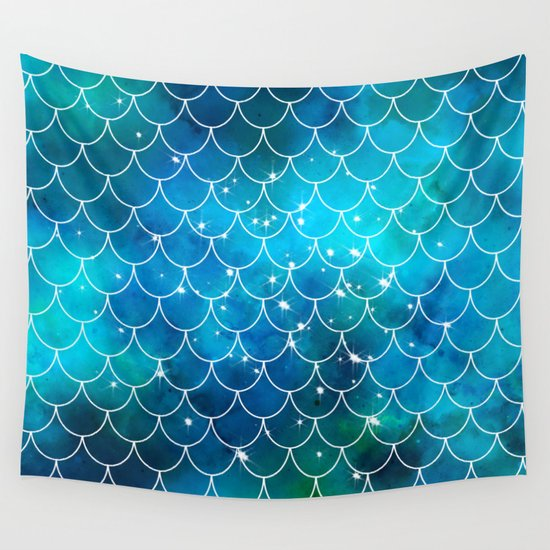 Mermaid Pattern tapestry home decor