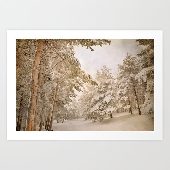 mountain adventure in the snow Art Print