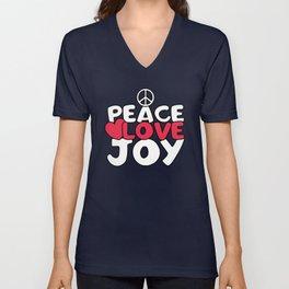 Peace love joy Unisex V-Neck