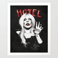 neutral milk hotel Art Prints featuring Hotel by Helen Green
