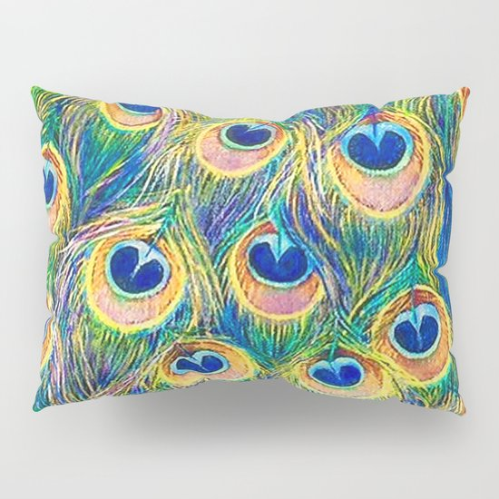 Peacock Freathers Pillow Sham