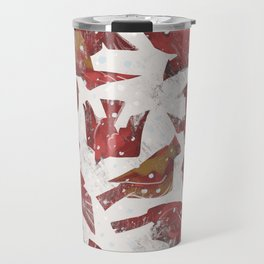 Snowy Cardinals Travel Mug