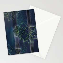 Neon Lotus Stationery Cards