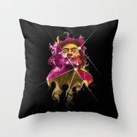 dali Throw Pillows featuring Dali by Juan Alonzo